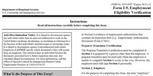 I-9 Richtlinie zur Employment Eligibility Verification erlassen