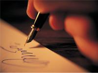 Unterschriften in blauer Tinte werden wieder angenommen